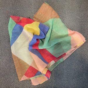 Jones New York light semi-sheer colorful scarf